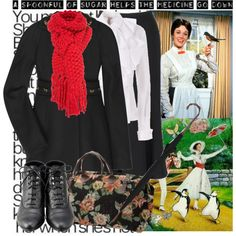 615. 14/50 Disney challenge (Mary Poppins), created by chloe on Polyvore