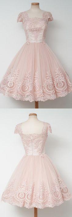 homecoming dresses, vintage party dresses with appliques, cheap vintage dresses, vestidos