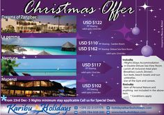 Zanzibar Holiday offers for Christmas