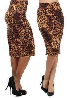 Beautiful Animal Print Pencil Skirt Leopard Print Outfits, Leopard Fashion, Animal Print Fashion, Cute Skirts, Cute Dresses, Cute Outfits, Printed Pencil Skirt, Pencil Skirts, Fashion Outfits