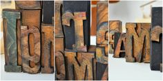 wooden block letters - home decorations by littlewood.pl