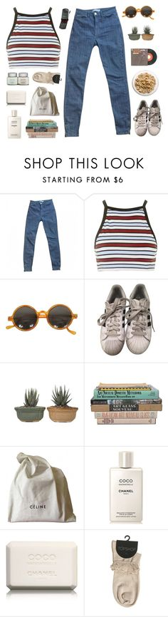 """""""[ 4.23pm ]   LIKE TO BE ON MY TAGLIST"""" by stormy-delusions ❤ liked on Polyvore featuring American Apparel, Motel, adidas, Janis, CÉLINE and Chanel"""