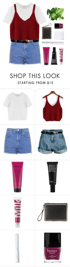 """no hope, no harm, just another false alarm"" by kristen-gregory-sexy-sports-babe ❤ liked on Polyvore featuring Acne Studios, Topshop, Retrò, philosophy, Make, MILK MAKEUP, Nila Anthony and Butter London"