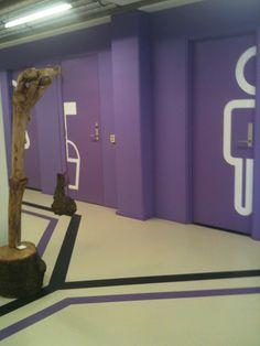 Volg de paarse lijn en je komt op de tweede etage van DTC