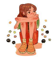 Spirited Away (千と千尋の神隠し) Studio Ghibli (Hayao Miyazaki) Anime Movie Haku Cartoon Kunst, Cartoon Art, Cartoon Drawings, Kunst Inspo, Art Inspo, Studio Ghibli Art, Arte Sketchbook, Sketchbook Pages, Cute Art Styles