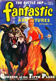 Publication: Fantastic Adventures, September 1942  Editors: Raymond A. Palmer Year: 1942-09-00 Publisher: Ziff-Davis Publishing Company  Cover: H. W. McCauley