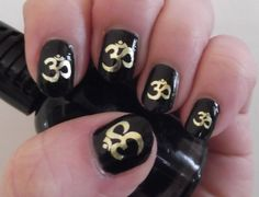 OM Symbol NAIL Art in GOLD (OMG) Yoga Meditation