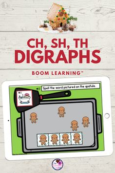 Are you teaching digraphs and looking for fun digraph activities? This gingerbread digital BOOM deck is a perfect worksheet free phonics activity. This practices with the consonant digraphs CH, SH… More
