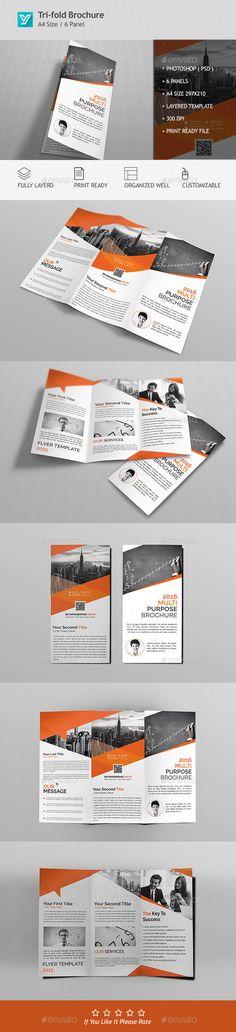 Corporate Tri-fold Brochure Template PSD #design Download: http://graphicriver.net/item/corporate-trifold-brochure-template-10/13755940?ref=ksioks