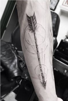 Magnificent Arrow Tattoo on Arm