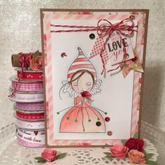 First Edition Love Story and Santoro Mirabelle Card by design team member Angie