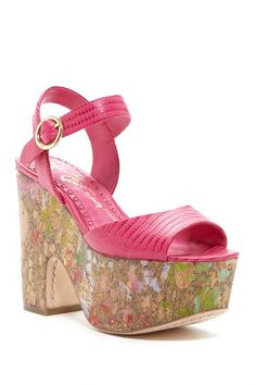 alice & olivia by Stacey Bendet Quintin Paint Splash Platform Sandal by alice + olivia on @HauteLook
