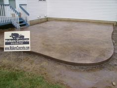 Stamped Concrete Patio Lebanon Ohio Pattern is Seamless Slate Concrete Driveways, Concrete Patio, Flagstone, Stamped Concrete Patterns, Lebanon Ohio, Patio Pictures, Exposed Aggregate, Acid Stain, Steel Fire Pit