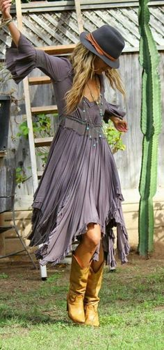 Boho uneven dress