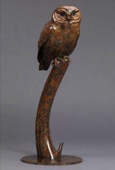 Little Owl bronze by Nick Bibby