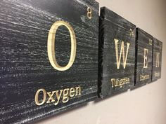periodic table family name sign, kids name sign custom kids sign periodic table elements baby shower gift wall mounted kids name sign by HowdyOwl on Etsy