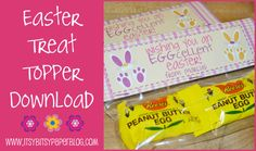 . . . Hoppin Good Easter Free Treat Topper Download . . .