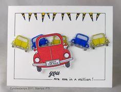 Shrinky dink cars, cute!