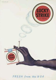 Vintage Lucky Strike Cigarettes advertising