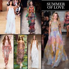 Summer of Love - The Cut  Peaceful vibes wafted through the shows, as clothing reminiscent of recent music festivals romantically took the stage. Post-mod and a softer approach to dressing, a bohemian dress is one piece we can get down with.