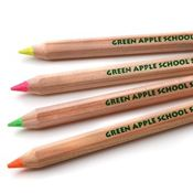 Plastic-Free Jumbo Highlighter Pencils -- set of 4