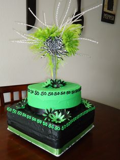 Another 50th Birthday cake- no feathers and different colors