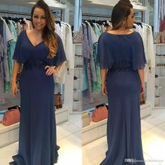 Plus Size Simple Chiffon Mother Of Bride Groom Dresses 2018 New V Neck Short Sleeves Sheath Flowy Chiffon Long Mother Formal Evening Gowns Plus Size Mother Of The Bride Gowns Royal Blue Mother Of The Bride Dresses From Beautydesign, $104.95| Dhgate.Com