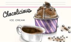 Chocolicious Ice Cream                              -                                  Schokoladeglace mit knusprigen Schokokügelchen