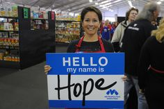 A volunteer at our Holiday Tent #BeHope #MetroElf