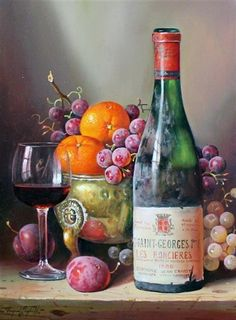 Artwork by Raymond Campbell, Nuits St Georges 1988, Made of oil on board