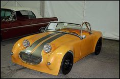 Old Police Cars, Old Hot Rods, Frog Eye, Austin Healey Sprite, Mg Midget, Triumph Spitfire, Mk 1, British Sports Cars, Mini Things