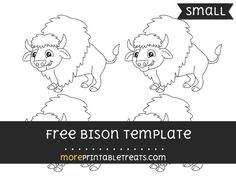 Free Bison Template - Small