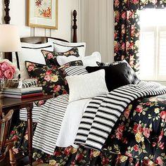Chaps Isabella Duvet Cover Set (B euro shams) Dream Bedroom, Home Bedroom, Bedroom Decor, Bedroom Ideas, Floral Bedroom, Queen Comforter Sets, Bedding Sets, Kohls Bedding, King Duvet