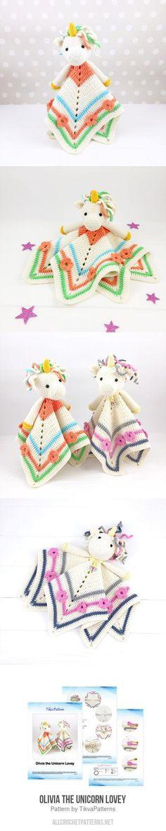 Olivia the Unicorn Lovey crochet pattern