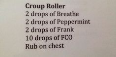 Oil roller mix for kids croup