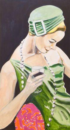 Monique Nieberg - Paris - Acrylverf