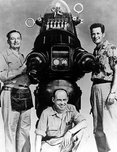 """1950/'s Sci-Fi 1956 Forbidden Planet Robby the Robot Silk Movie Poster 24/"""" x 32/"""""""