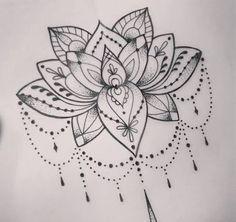 Image result for lotus flower mandala tattoo designs