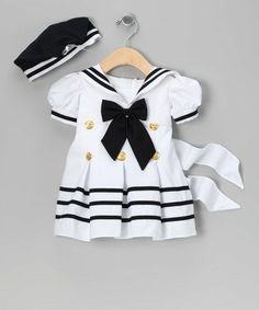 sailor dress, la sun, toddler girls, infant, baby girls, babi, beret, white sailor, kid
