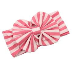 """FEITONG(TM) 2015 New Lovely Baby Girl Big Striped Bow Elastic Headband Hairband by FEITONG. beautiful Headband,Different bright colors can match with different clothes of your baby!. Material:Cloth, Item Type:Hair Band. Size:18.5*7cm/7.28*2.76""""(Fit 3 months to 3 Year Old Baby). Occasion:Baby Shower Birthday Party Family Photo. As different computers display colors differently, the color of the actual item may vary slightly from the images."""