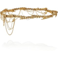 Annika gold-plated headband ($140) ❤ liked on Polyvore featuring accessories, hair accessories, jewelry, headbands, hair, headband hair accessories, jennifer behr, hair band headband, hair bands accessories and jennifer behr headband