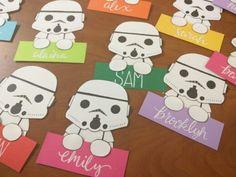 Stormtrooper door decs for a Star Wars floor theme!