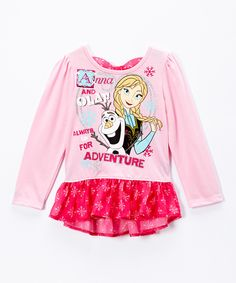 Another great find on #zulily! Pink Frozen Anna Peplum Top - Toddler by Frozen #zulilyfinds