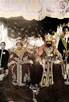 Their Imperial Majesties on their coronation. November 2nd 1930