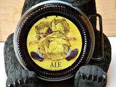 Beer Belt Buckle Bells Brewing Hopslam handcrafted by by BrewPaw, $28.99