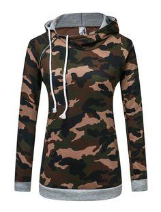 f569b1dde1094 Women s Pullover Hoodie Camouflage Print Long Sleeve Hoodie Sweatshirt