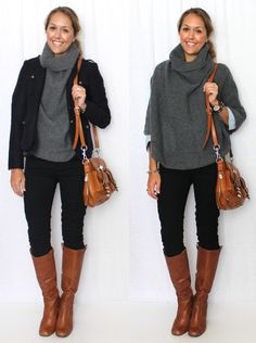 J's Everyday Fashion provides outfit ideas, budget fashion, shopping on a budget, personal style inspiration, and tips on what to wear. Mode Outfits, Casual Outfits, Fashion Outfits, Fall Winter Outfits, Autumn Winter Fashion, Fall Fashion, Outfits Pantalon Negro, I Love Fashion, Fashion Looks