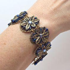 Appel Quilling Garden: Quilled in Blue Bracelet