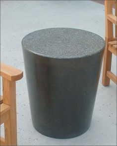 concrete stool / table & Aluminium Hammered Drum Stool or Occasional Table H:46 x 34cm ... islam-shia.org