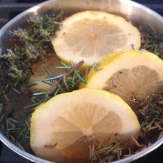 Boil lemons, vanilla & rosemary let simmer all day makes the house smell amazing!